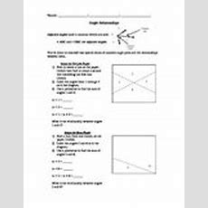 Complementary And Supplementary Angles Worksheet Teaching Resources  Teachers Pay Teachers