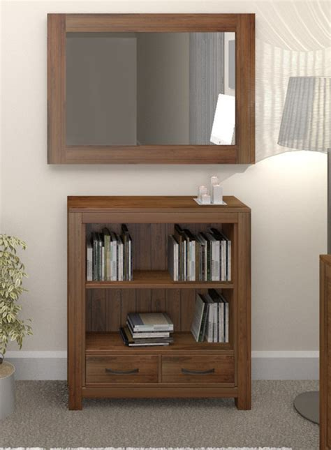 Low Modern Bookcase by Mayan Walnut Low Bookcase Contemporary Bookcases