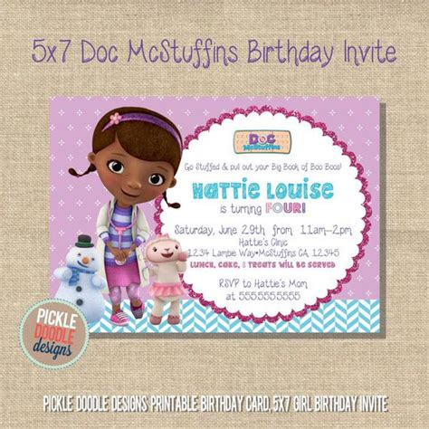 doc invitation template 29 best doc mcstuffins birthday invitations images on birthday invitations
