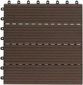 Terrassenplatten Aus Kunststoff : gartenfreude everfloor wpc holz kunststoff gemisch terrassenfliesen massivprofil braun 10 ~ Sanjose-hotels-ca.com Haus und Dekorationen