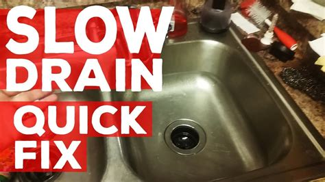 ideas   fix  slow draining sink   kitchen