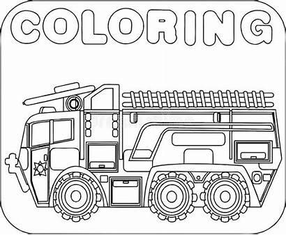 Fire Cartoon Coloring Trucks Clip Vehicle Theme