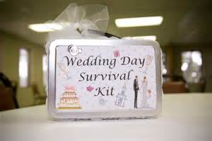wedding gift ideas for already living together of craft wedding week wedding day survival kit