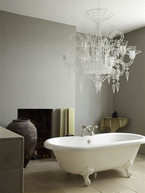 modern country style designer abigail ahern s bathroom two different paint colours two