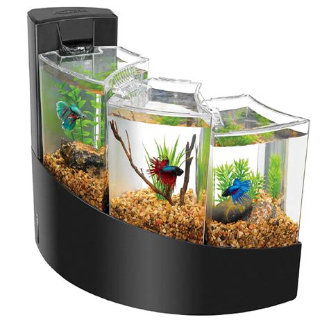 fish aquariums aqueon betta falls aquarium kit in black aqueon betta