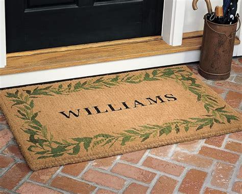 Personalized Coir Doormat by Personalized Bay Leaf Coir Doormat Traditional