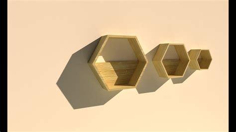 Rak Dinding Hexagonal membuat rak dinding hexagon segi 6