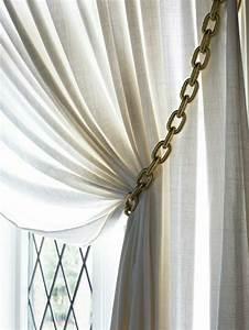 Embrasse Rideau Design : d co embrasse pour rideau chaine contrastante avec la matiere fine ~ Teatrodelosmanantiales.com Idées de Décoration