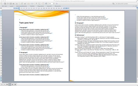 handout templates templates for word for mac made for use