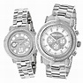 His and Hers Watches: Luxurman Oversized Diamond Watch Set ...