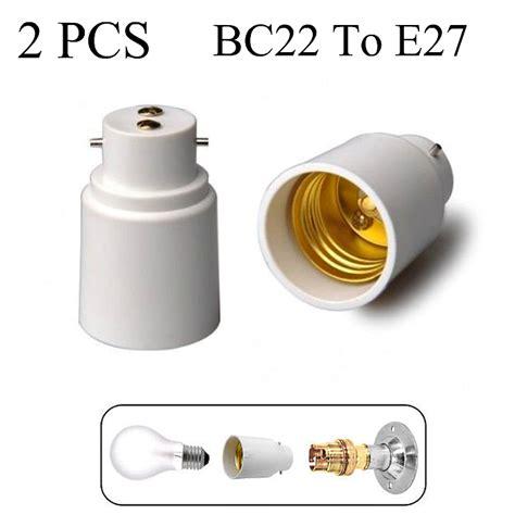 B22 To E27 Lamp Light Bulb Base Socket Converter Adaptor
