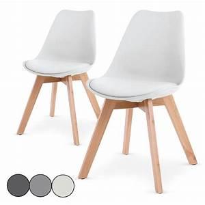 Chaise Blanche Scandinave : chaise blanche avec pied en bois zj46 jornalagora ~ Teatrodelosmanantiales.com Idées de Décoration