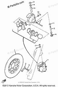 Yamaha Motorcycle 1981 Oem Parts Diagram For Front Brake