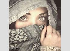 Pretty girl with attractive eyes hiding her face