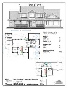 one story cottage house plans floor plans west coast design