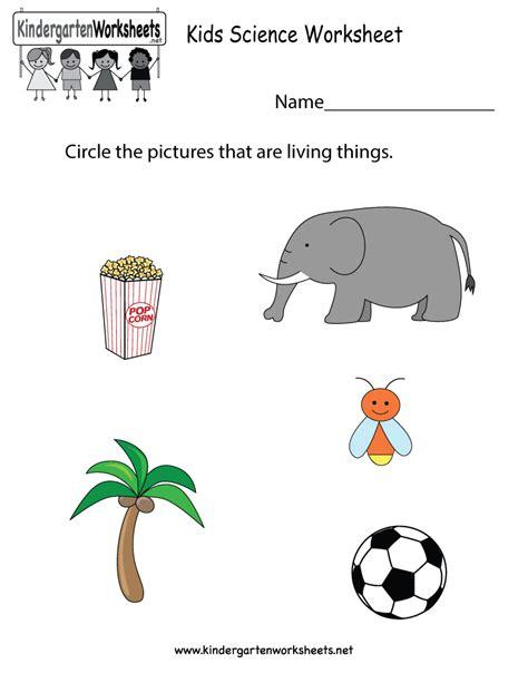 kindergarten science worksheet printable science