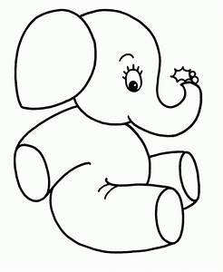 Dibujos fáciles de elefantes para pintar Colorear imágenes