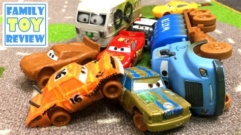 Demolition Derby Cars Toys disney cars 3 toys pushover 8 crashers collection