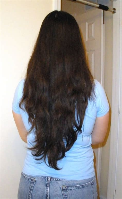 Long Layered Hair V Shape Back View Haircuts Ideas