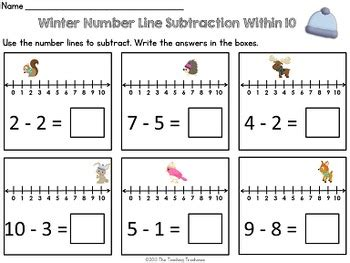 winter number  addition subtraction