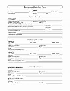 printable temporary guardianship form legal pleading template With legal documents for temporary child custody