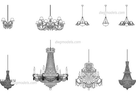 Chandelier Autocad Block by Chandeliers Dwg Free Cad Blocks