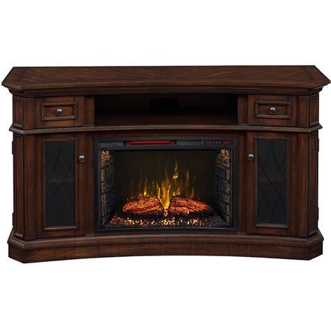 electric fireplace tv stand costco 60 in w 5 200 btu walnut wood infrared quartz electric