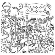 zoo animal coloring pages images colored pencils