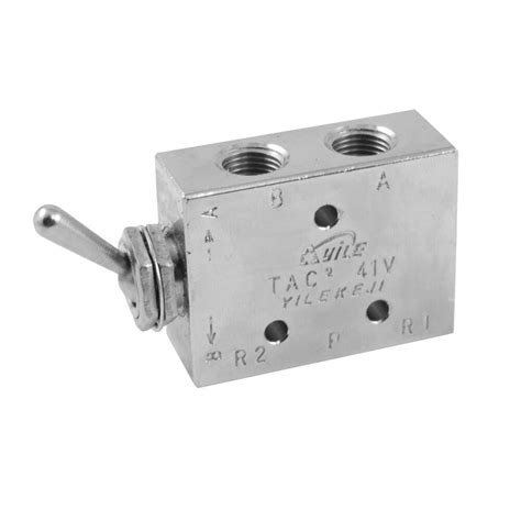 Silver Tone Air Pneumatic Position Way Toggle Switch