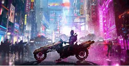 Cyberpunk Futuristic Tacticalneuralimplant Motorcycle Batman Police Hanami