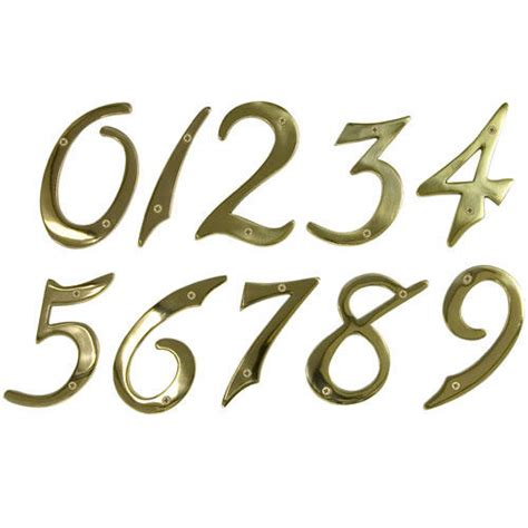 solid brass house numbers polished lacquered brass address plaques and house numbers outdoor