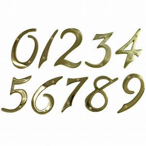 solid brass house numbers polished lacquered brass With brass address numbers and letters