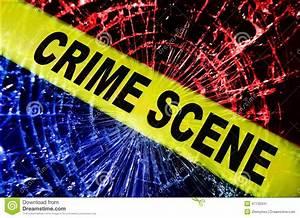 Broken Window Crime Scene Stock Photo - Image: 47130341