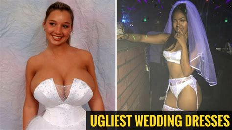 50 Most Inappropriate And Ugliest Wedding Dresses Ever