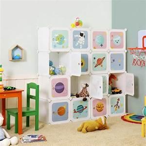 Songmics Armario Modular Infantil De 16 Cubos  Organizador
