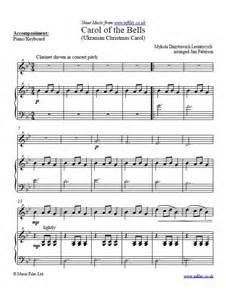 Clarinet Sheet Music Carol of Bells