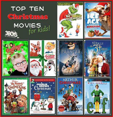 Top 10 Christmas Movies List (for Kids) Were Approved By My 3 Boys  3 Boys And A Dog