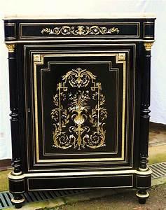 meuble a colonne boulle 3 matieres la galerie napoleon 3 With meuble boulle napoleon 3
