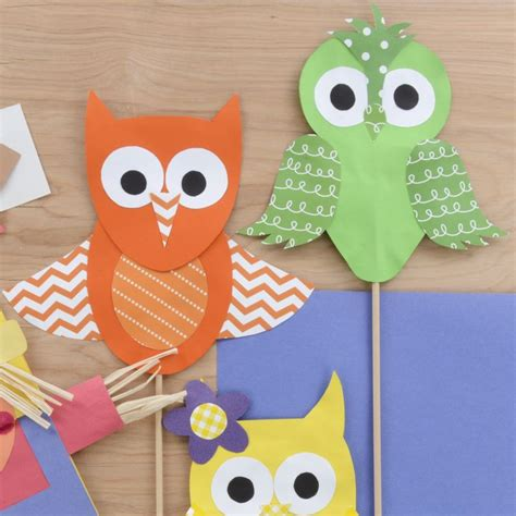 how to make paper owls papercrafts owl puppets 520   5cf9882b45fae99656699011927feab2