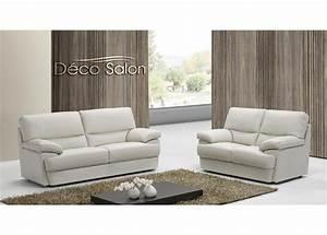 Quotsalon en cuir moderne biancaquot for Salon cuir moderne
