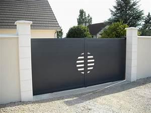 Portail 4m Pas Cher : fabricant de portail coulissant aluminium design pas cher ~ Dailycaller-alerts.com Idées de Décoration