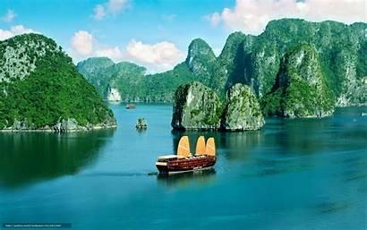 Vietnam Desktop Bay Ha Coast Wallpapersafari Junk