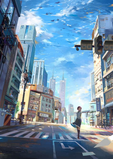 City Anime Wallpaper - lonely city anime wallpaper