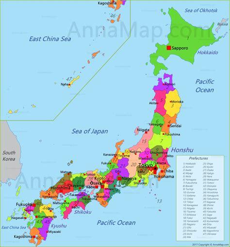 japan map map  japan annamapcom