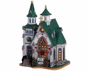 lemax village collection cedar valley church 65420