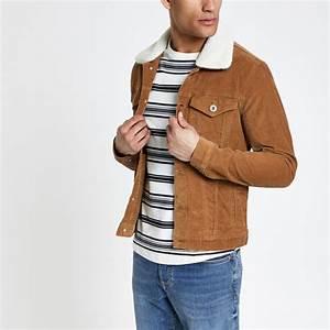 Veste Homme Col Mouton : veste en velours c tel fauve col imitation mouton vestes manteaux vestes homme ~ Dallasstarsshop.com Idées de Décoration