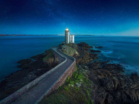 phare du petit minou lighthouse plouzane brittany france
