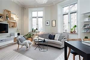 50 chic scandinavian living rooms ideas inspirations With tapis jonc de mer avec magasin plan de campagne canapé