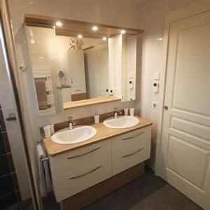 Meuble Salle De Bain 140 Cm Double Vasque : beautiful meuble vasque salle de bain dimension images ~ Dailycaller-alerts.com Idées de Décoration