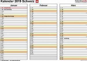 Jahreskalender 2018 2019 : kalender 2019 schweiz f r word zum ausdrucken ~ Jslefanu.com Haus und Dekorationen